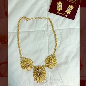 Ivory Necklace and Earrings